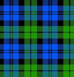 Black watch milytary tartan seamless pattern vector