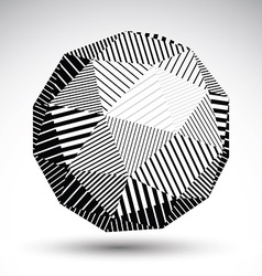 Abstract 3D rounded contrast figure constructed vector image