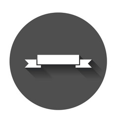 Badge icon ribbon in flat style with long shadow vector