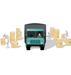 Box trucks vector
