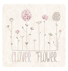 Clover meadow vector