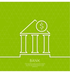 Financial institution with a coin vector
