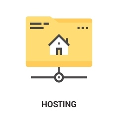 hosting icon concept vector image vector image