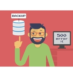 Information recovery and data backup vector image