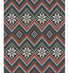 Knitting pattern sweater flower battlement vector