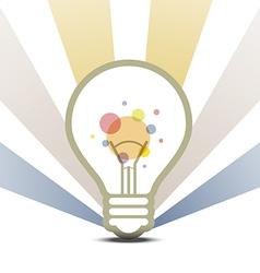 Lamp symbol design background vector