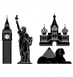 landmarks vector image vector image