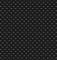 Lattice seamless pattern with circles on black vector
