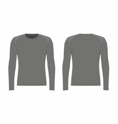 Mens black long sleeve t shirt vector