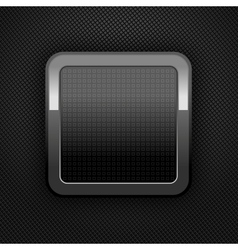 metal web button vector image