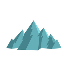Mountain icon flat style vector
