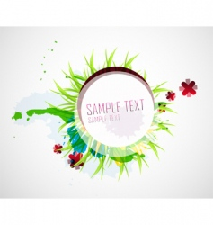 natural elements background vector image vector image