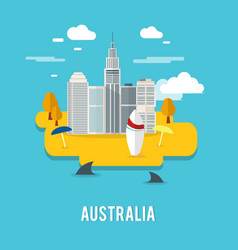 Perth capital city populous city in australia vector