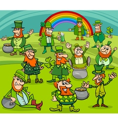 saint patrick day characters group vector image vector image