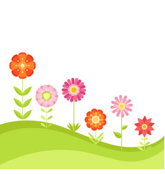 Summer floral background with garden vector