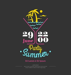 Summer perty vector image vector image