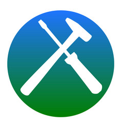 Tools sign white icon in vector