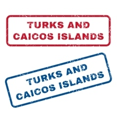 Turks and caicos islands rubber stamps vector
