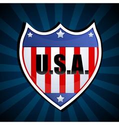 usa shield vector image