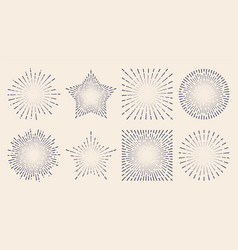 vintage sunburst starburst abstract retro vector image vector image