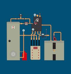 Heat pump heating system vector