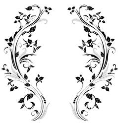 foliate frame vector image