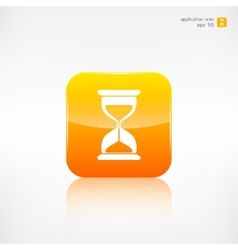 Sand clock icon glass timer symbol vector
