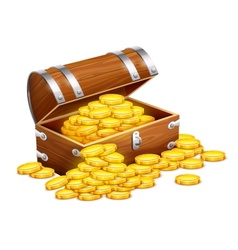 Pirates trunk chest full of vector image