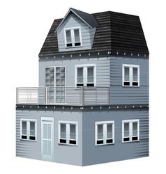 3d design for gray house vector