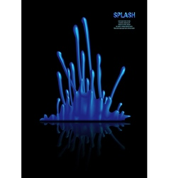 Splash of blue paint vector image