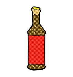 Comic cartoon beer bottle vector