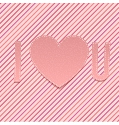 Valentines Day paper Abbreviation I love U vector image