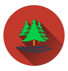 Icon of fir forest vector