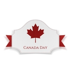 Canada day holiday banner with ribbon vector