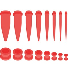 Red ear tunnel set vector