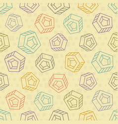 Abstract seamless background with multicolored vector