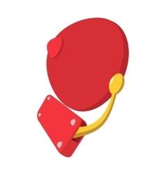 Alarm retro bell cartoon icon vector