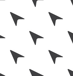 arrow cursor seamless pattern vector image