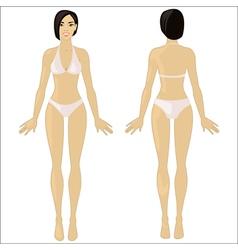 Asian woman in underwear vector image vector image