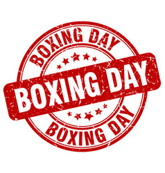 Boxing day stamp vector