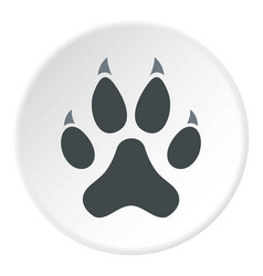 Cat paw icon circle vector