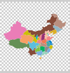 China map with province region flat on isolated vector