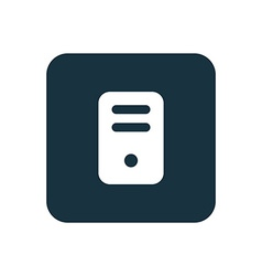 Computer icon rounded squares button vector