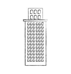 Contour city building icon image vector