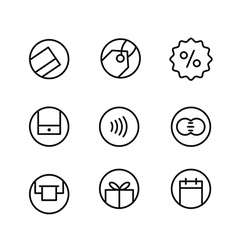 Different internet commerce icons set vector