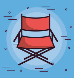 Directors chairs icon vector