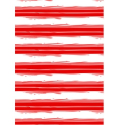 Distressed red and white stripe repeat pattern vector image vector image