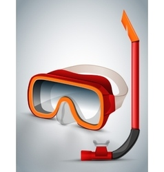 Diving goggles diving mask red vector