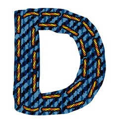 Farmerke tekstura slovo D vector image vector image