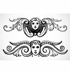 female header ornaments vector image vector image